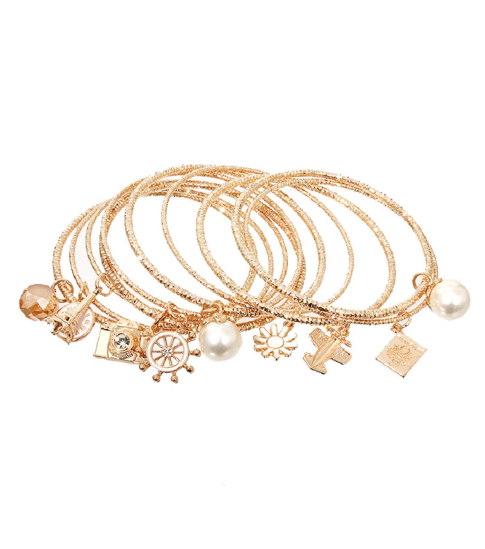 close without circles of buy goldsilver at piece set online bracelet with jewelry stamped cut up borders bangles bangle gold